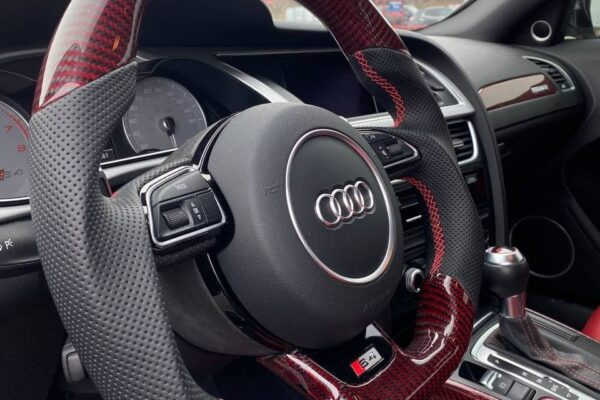 2015 Audi S4 - Red-Black Gloss Carbon Fiber - Black Perforated Leather - Installed 2