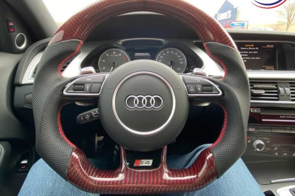 2015 Audi S4 - Red-Black Gloss Carbon Fiber - Black Perforated Leather - Installed